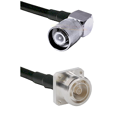 SC Right Angle Male Connector On LMR-240UF UltraFlex To 7/16 4 Hole Female Connector Coaxial Cable A