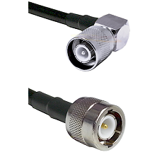 SC Right Angle Male Connector On LMR-240UF UltraFlex To C Male Connector Cable Assembly
