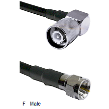 SC Right Angle Male Connector On LMR-240UF UltraFlex To F Male Connector Cable Assembly