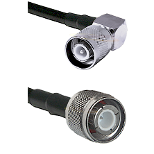 SC Right Angle Male Connector On LMR-240UF UltraFlex To HN Male Connector Cable Assembly
