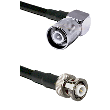 SC Right Angle Male Connector On LMR-240UF UltraFlex To MHV Male Connector Cable Assembly