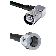 SC Right Angle Male Connector On LMR-240UF UltraFlex To QN Male Connector Cable Assembly