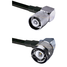 SC Right Angle Male Connector On LMR-240UF UltraFlex To C Right Angle Male Connector Coaxial Cable A