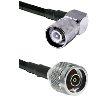 SC Right Angle Male Connector On LMR-240UF UltraFlex To N Reverse Polarity Male Connector Coaxial Ca