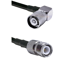 SC Right Angle Male Connector On LMR-240UF UltraFlex To TNC Reverse Polarity Female Connector Coaxia
