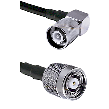 SC Right Angle Male Connector On LMR-240UF UltraFlex To TNC Reverse Polarity Male Connector Coaxial