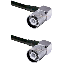 SC Right Angle Male Connector On LMR-240UF UltraFlex To SC Right Angle Male Connector Coaxial Cable