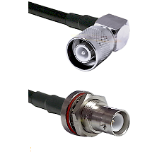 SC Right Angle Male Connector On LMR-240UF UltraFlex To SHV Bulkhead Jack Connector Coaxial Cable As