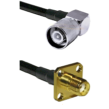 SC Right Angle Male Connector On LMR-240UF UltraFlex To SMA 4 Hole Female Connector Coaxial Cable As