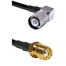 SC Right Angle Male Connector On LMR-240UF UltraFlex To SMA Female Connector Cable Assembly