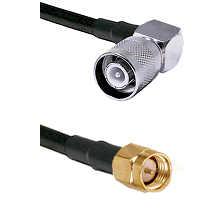 SC Right Angle Male Connector On LMR-240UF UltraFlex To SMA Male Connector Cable Assembly