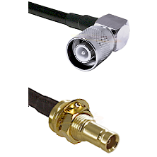 SC Right Angle Male on RG58 to 10/23 Female Bulkhead Cable Assembly