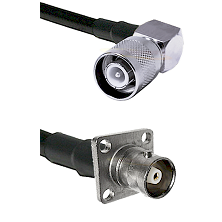 SC Right Angle Male on RG58 to C 4 Hole Female Cable Assembly