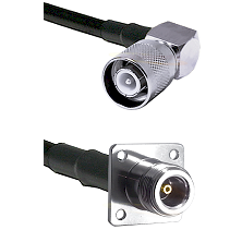 SC Right Angle Male on RG58 to N 4 Hole Female Cable Assembly