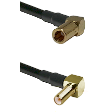 SLB Right Angle Female on Belden 83242 RG142 to SLB Right Angle Male Cable Assembly