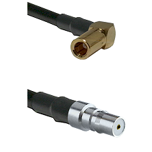 SLB Right Angle Female on LMR100 to QMA Female Cable Assembly