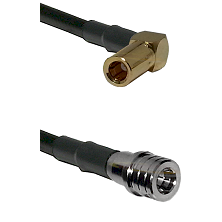 SLB Right Angle Female on LMR100 to QMA Male Cable Assembly