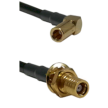SLB Right Angle Female on LMR-195-UF UltraFlex to SMB Female Bulkhead Cable Assembly