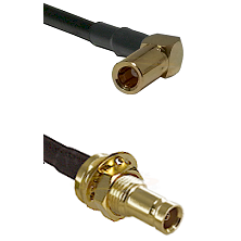 SLB Right Angle Female on RG142 to 10/23 Female Bulkhead Cable Assembly