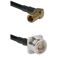 SLB Right Angle Female on RG142 to 7/16 4 Hole Female Cable Assembly