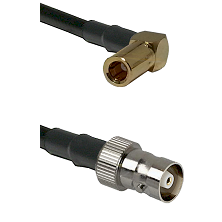 SLB Right Angle Female on RG142 to C Female Cable Assembly