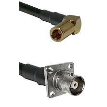 SLB Right Angle Female on RG142 to C 4 Hole Female Cable Assembly