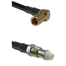SLB Right Angle Female on RG142 to FME Female Cable Assembly