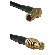 SLB Right Angle Female on RG142 to MCX Male Cable Assembly