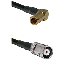 SLB Right Angle Female on RG142 to MHV Female Cable Assembly