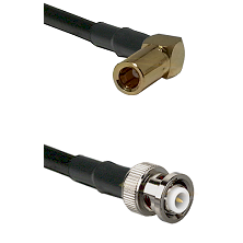 SLB Right Angle Female on RG142 to MHV Male Cable Assembly