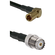 SLB Right Angle Female on RG142 to Mini-UHF Female Cable Assembly