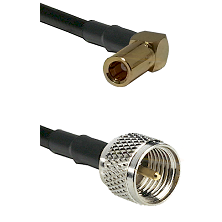 SLB Right Angle Female on RG142 to Mini-UHF Male Cable Assembly