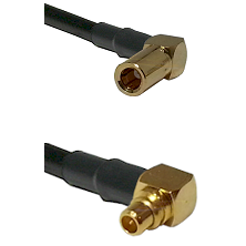 SLB Right Angle Female on RG316 to MMCX Right Angle Male Cable Assembly