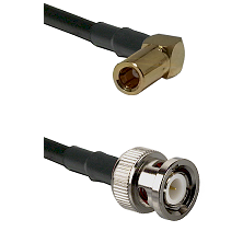 SLB Right Angle Female on RG400 to BNC Male Cable Assembly