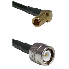 SLB Right Angle Female on RG400 to C Male Cable Assembly