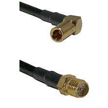 SLB Right Angle Female on RG400 to SMA Reverse Polarity Female Cable Assembly