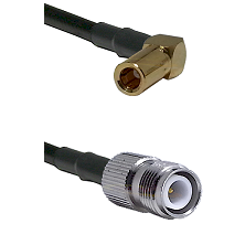 SLB Right Angle Female on RG400 to TNC Reverse Polarity Female Cable Assembly