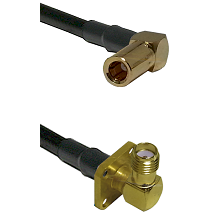 SLB Right Angle Female on RG400 to SMA 4 Hole Right Angle Female Cable Assembly