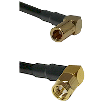 SLB Right Angle Female on RG400 to SMA Right Angle Male Cable Assembly