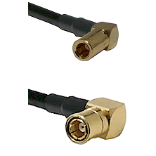 SLB Right Angle Female on RG400 to SMB Right Angle Female Cable Assembly