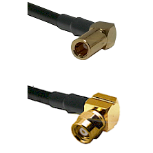 SLB Right Angle Female on RG400 to SMC Right Angle Female Cable Assembly