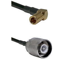 SLB Right Angle Female on RG400 to SC Male Cable Assembly
