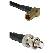 SLB Right Angle Female on RG400 to SHV Plug Cable Assembly