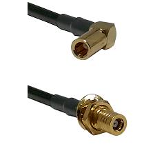 SLB Right Angle Female on RG400u to SLB Female Bulkhead Cable Assembly