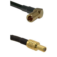 SLB Right Angle Female on RG400 to SLB Male Cable Assembly