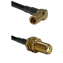 SLB Right Angle Female on RG400 to SMA Female Bulkhead Cable Assembly