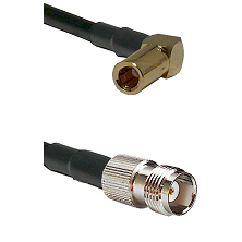 SLB Right Angle Female on RG400 to TNC Female Cable Assembly