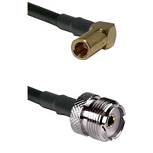 SLB Right Angle Female on RG400 to UHF Female Cable Assembly