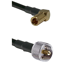 SLB Right Angle Female on RG400 to UHF Male Cable Assembly