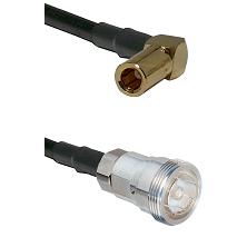 SLB Right Angle Female on RG58C/U to 7/16 Din Female Cable Assembly